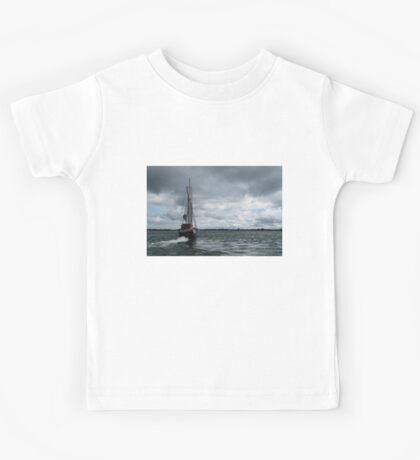 Sailing Into the Storm Kids Tee