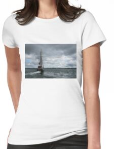 Sailing Into the Storm Womens Fitted T-Shirt
