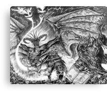 The demonic sorcerer Canvas Print
