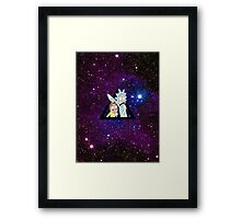 Rick And Morty in Space AGAIN!! Framed Print