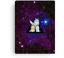 Rick And Morty in Space AGAIN!! Canvas Print