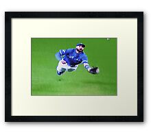 Kevin Pillar's Mighty Dive Framed Print