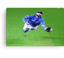 Kevin Pillar's Mighty Dive Canvas Print