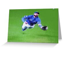 Kevin Pillar's Mighty Dive Greeting Card