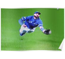 Kevin Pillar's Mighty Dive Poster