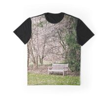 Park Bench under Magnolia Trees Graphic T-Shirt