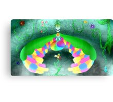 Arta and the flower Canvas Print