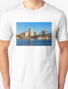 Sailing Under the Brooklyn Bridge - Impressions Of Manhattan Unisex T-Shirt