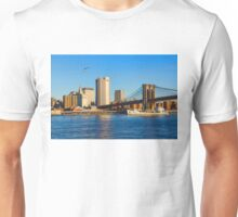 Sailing Under the Brooklyn Bridge - Impressions Of Manhattan Unisex T-Shirt