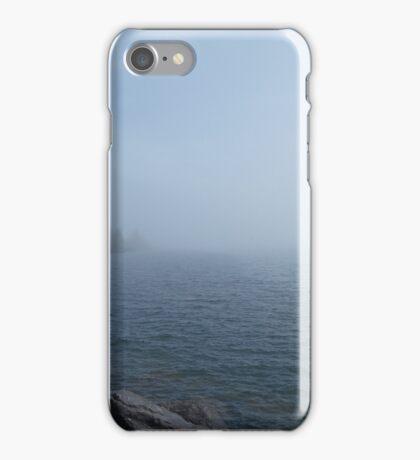 Fog bank over western Lake Superior iPhone Case/Skin
