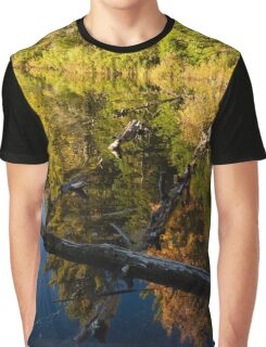 Fall Mirror - Mesmerizing Forest Lake Reflections Graphic T-Shirt