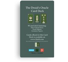 NEW! Druid Oracle Published Deck! Canvas Print