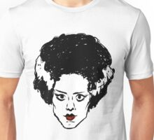 Frankenstein's Bride Line Drawing Unisex T-Shirt
