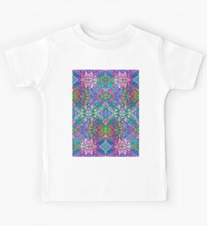 Fractal Art Stained-Glass Kids Tee