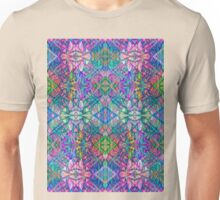 Fractal Art Stained-Glass Unisex T-Shirt