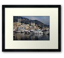 Monte Carlo Harbor, Monaco, French Riviera  Framed Print