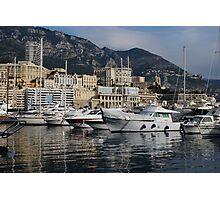 Monte Carlo Harbor, Monaco, French Riviera  Photographic Print
