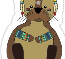 Woodland Otter Sticker
