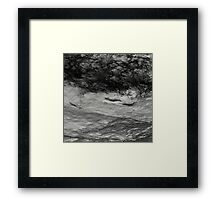 Black Tempest - Abstract Ocean, Sea, Pattern in Black And White Framed Print