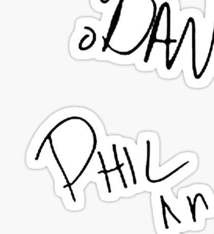 Dan+Phil signatures  Sticker