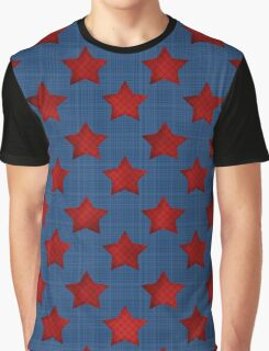 Abstract stars geometric retro seamless pattern denim Graphic T-Shirt