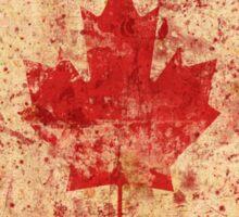 Canadian grunge flag - Canada Sticker