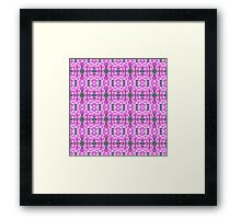 Tiny Clustered Pink Flowers Framed Print
