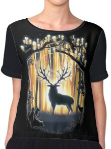 Deer God  Chiffon Top