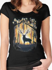 Deer God  Women's Fitted Scoop T-Shirt