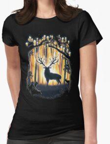 Deer God  Womens Fitted T-Shirt