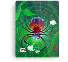 Spider Snack Metal Print