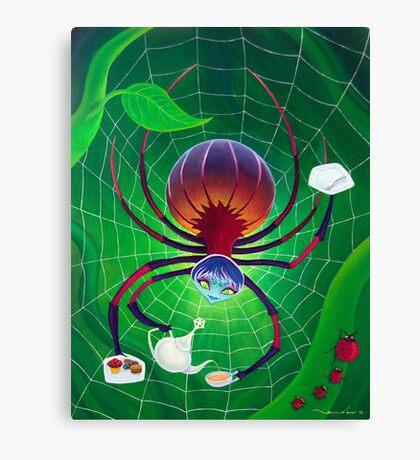 Spider Snack Canvas Print