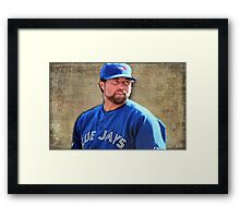 R.A. Dickie Waits To Wind Up A Knuckle Ball Framed Print