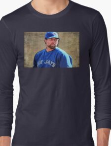 R.A. Dickie Waits To Wind Up A Knuckle Ball Long Sleeve T-Shirt