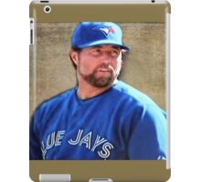 R.A. Dickie Waits To Wind Up A Knuckle Ball iPad Case/Skin