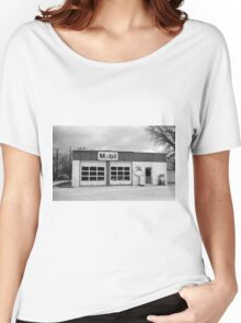 Route 66 - Rusty Mobil Station Women's Relaxed Fit T-Shirt