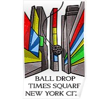 Times Square Ball Drop Poster