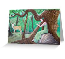 The Harpist and the Tree Greeting Card