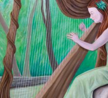 The Harpist and the Tree Sticker