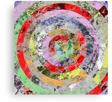 Marble Bullseye - Abstract Geometric Marble Patterned Art Canvas Print