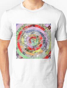 Marble Bullseye - Abstract Geometric Marble Patterned Art T-Shirt