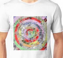Marble Bullseye - Abstract Geometric Marble Patterned Art Unisex T-Shirt