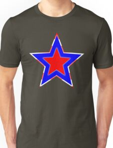Stars of Red, Blue and White Unisex T-Shirt
