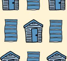 Beach Huts and Beach Towels Sticker