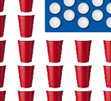 USA Red Solo Cup Flag Sticker