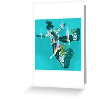 Cut Along the Dotted Line Greeting Card