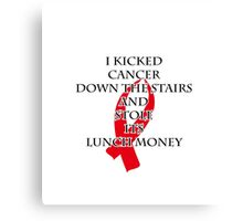 Cancer Bully (Red Ribbon)  Canvas Print