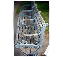 park bench in Providence Poster