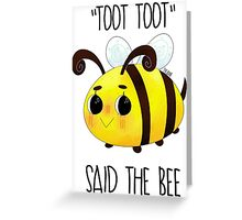 """Toot, Toot"" Greeting Card"