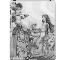 Off with their heads! (Alice and the Queen of Hearts) iPad Case/Skin
